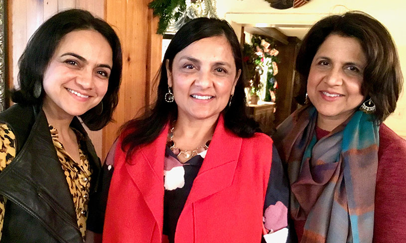 Photos of Shobana, Vandana, and Ranjana Sood