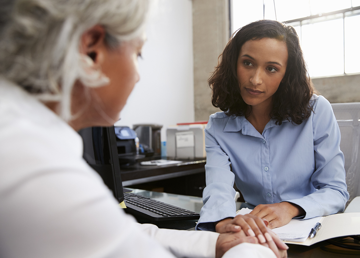Concerned advisor counselling alumna