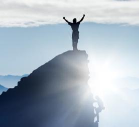 Triumphant on Mountaintop
