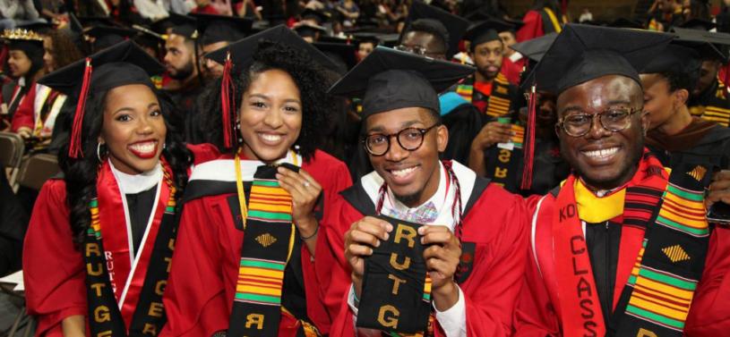 african american rutgers students graduating