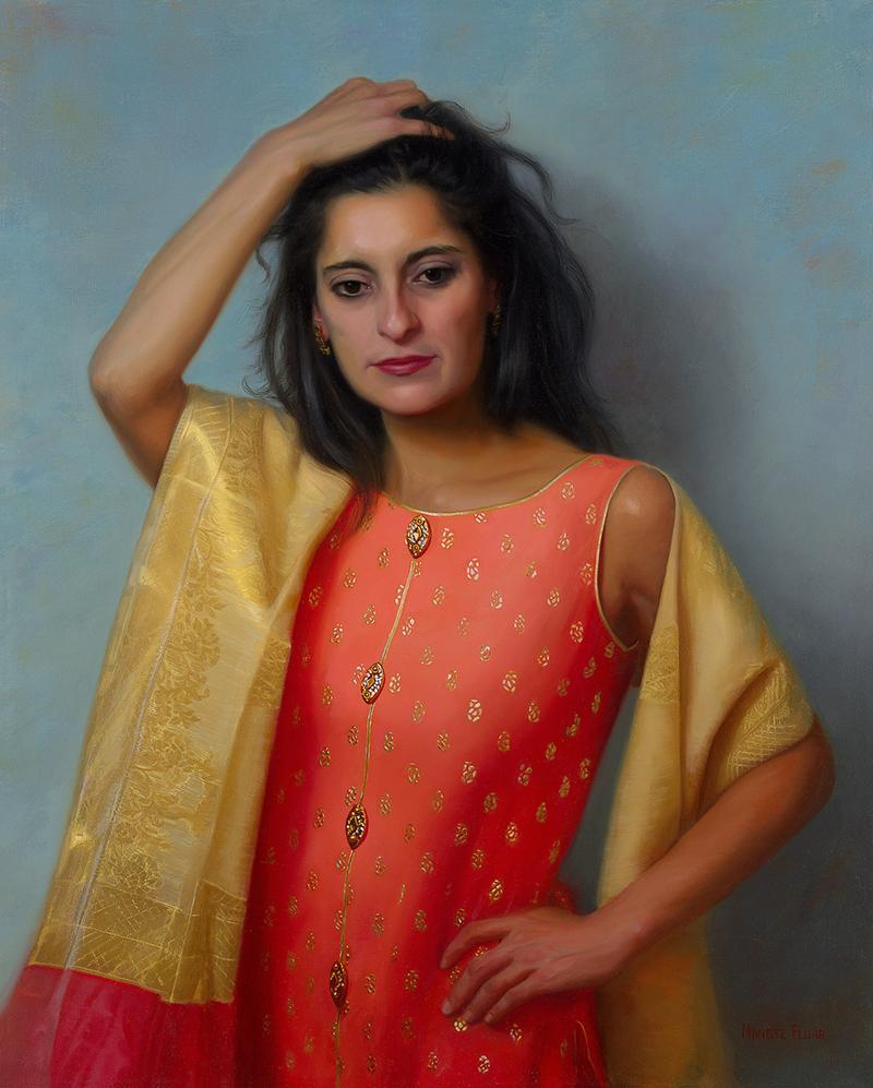 nanette fluhr painting of manu