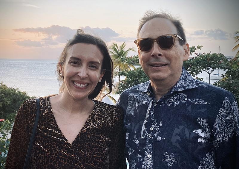 Eye surgeon Orazio Giliberti and his daughter, Francesca, who is also an eye surgeon, in Grenada