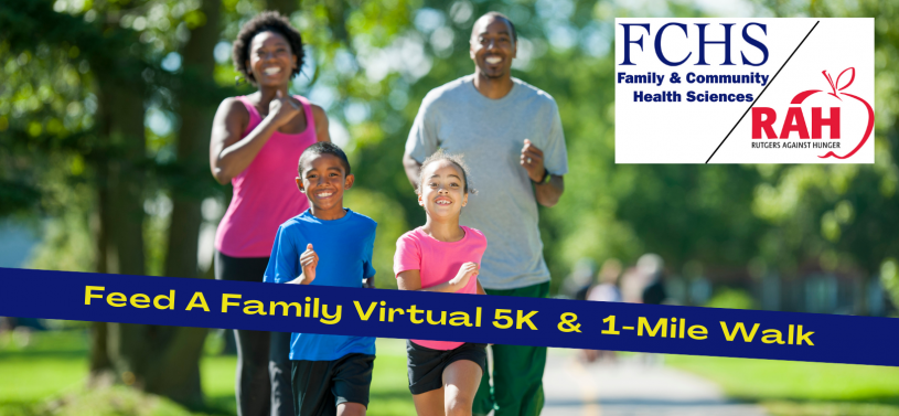 african american family running together