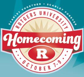 Rutgers University Homecoming October 7-9