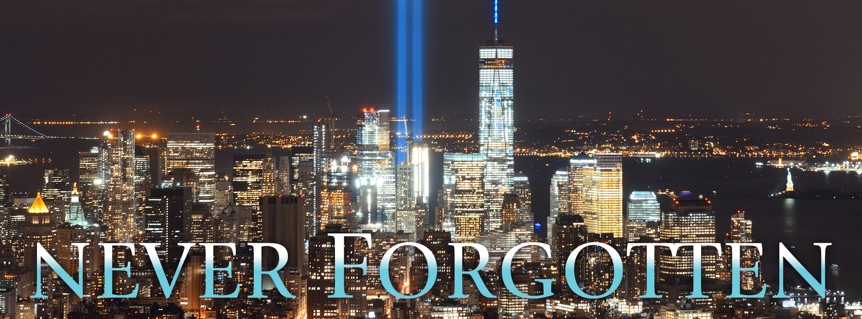 Never Forgotten: New York City skyline with